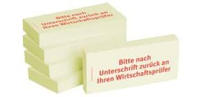 Haftnotiz Unterschr.Wirtschaft 1301010128 75x35mm 5Bk Produktbild