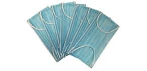 Mund- und Nasenschutzmaske  blau/wei PEANDR 26902 ohne Zertifikat Produktbild
