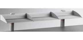 Ablagebord 1er lichtgrau NOVUS 750+0502+000 Produktbild