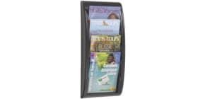 Wand-Prospekthalter A4 silber PAPERFLOW 4061.35 QuickBlick Produktbild