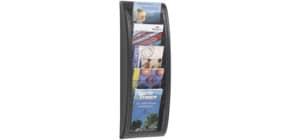 Wand-Prospekthalter A5 schwarz PAPERFLOW 4063.01 QuickBlick Produktbild