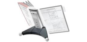 Sichttafelständer SHERPA® Modul 10 grau DURABLE 5623 57 leer für 10 Tafeln Produktbild