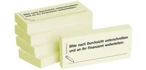 Haftnotiz n.Unterschr.an Finan 1301010110 75x35mm 5Bk Produktbild