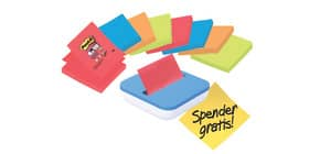 Haftnotizblock 76x76mm 8St sort. POST-IT VAL-8BP SupSticky+Spend Produktbild