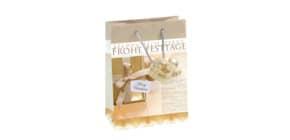 Weihnachts Geschenktragetasche SIGEL GT017 Golden Shimmer Small Produktbild