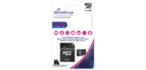 Speicherkarte Micro SDXC 64GB MEDIA RANGE MR955 Class10 Produktbild