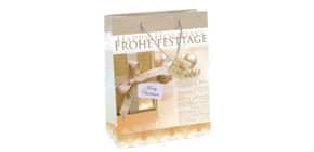 Weihn. Geschenktragetasche 26x33x12cm SIGEL GT016 Large Golden Shimmer Produktbild