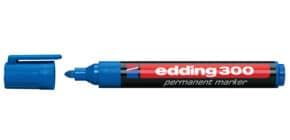 Permanentmarker 300 1,5-3mm blau EDDING 4-300003 Rundspitze nachfüllbar Produktbild