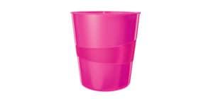 Papierkorb WOW 15l pink metallic LEITZ 5278-10-23 Produktbild
