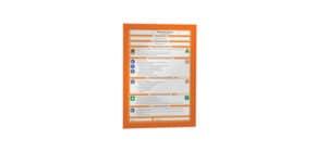 Magnetrahmen DURAFRAME® A4 DURABLE 4872 09 sk orange 2 Stück Produktbild