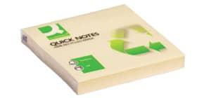 Haftnotizblock 76x76mm gelb Q-CONNECT KF05609 120Bl Recycl Produktbild