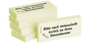 Haftnotiz nach Unt.an Steuerbe 1301010112 75x35mm 5Bk Produktbild