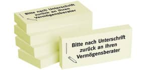 Haftnotiz n.Unt.an Vermögensbe 1301010113 75x35mm Produktbild