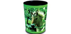 Papierkorb 13 Liter Pferd am Zaun LÄUFER 26657 H.30cm Kunststoff Produktbild