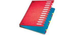 Ordnungsmappe 12teilig rot LEITZ 59120025 Karton Produktbild