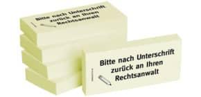 Haftnotiz nach Unt.a.Rechtsanw 1301010146 75x35mm 5Bk Produktbild