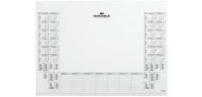 Schreibunterlage Kalender weiß DURABLE 7292 02 für 7291 Produktbild