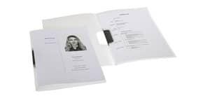Bewerbungsmappe A4 PP farblos ELBA 100551944 36496FL clip-fix Produktbild