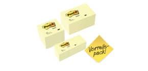 Haftnotizblock 6x654 + 6x655 gelb POST-IT 654655P 12x653 gratis Produktbild