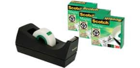 Tischabroller +4RL schwarz SCOTCH SM4 Black 19mm x33m Produktbild