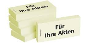 Haftnotiz Für Ihre Akten 1301010107 75x35mm 5Bk Produktbild