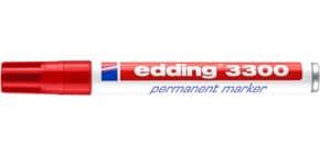 Permanentmarker 3300 1-5mm rot EDDING 3300-002 Keilspitze nachfüllbar Produktbild