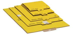 Versandkarton M gelb 821400100080/821497226920 Produktbild