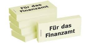 Haftnotiz Für das Finanzamt 1301010119 75x35mm 5Bk Produktbild