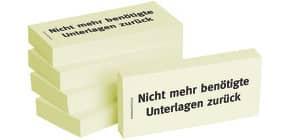 Haftnotiz Nicht mehr ben.Unter 1301010108 75x35mm 5Bk Produktbild