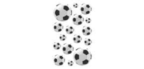 Schmucketikett Fußball sw/ws ZWECKFORM 53708 Produktbild