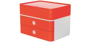 Schubladenbox 2 Laden+Box weiß/rot HAN 1100-17 Allison Produktbild