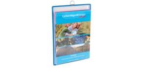 Prospekttasche A4hoch blau TARIFOLD TA354001 +Öse Produktbild