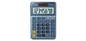 Tischrechner 8-stellig silberblau CASIO MS-88EM Solar/Batterie Produktbild