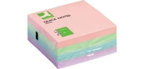 Haftnotizblock 76x76mm pastell Q-CONNECT KF01347 400BL Produktbild