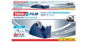 Tischabroller 19mmx33m royalblau TESA  57421-2 Easy Cut leer Produktbild