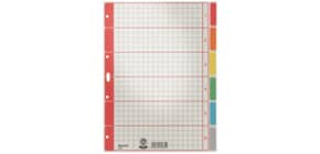 Register A4 blanko grau 6-teilig LEITZ 43500085 Karton färbigeTabs Produktbild