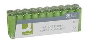 Batterie AA/LR6 20ST grün Q-CONNECT KF10848 Mignon Produktbild