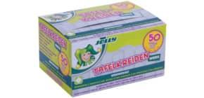 Tafelkreide 50 Stück ungewickelt weiß Produktbild
