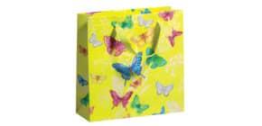 Geschenktragetasche Schmetterling gelb 70010 11614 22x22x8cm Produktbild
