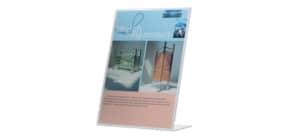 Tischaufsteller A4 hoch schräg transp. Q-CONNECT KF04177 Produktbild