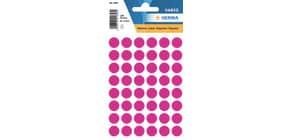 Etiketten Farbpunkte pink 13mm HERMA 1856 Produktbild