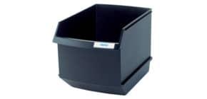 Papierkorb Container 25l schwarz Produktbild