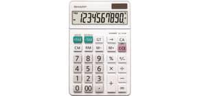 Tischrechner weiß 10-stellig SHARP SH-EL331WB Produktbild
