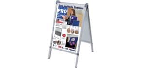 Kundenstopper Design Außenbereich A1 FRANKEN BS1309 591x836mm silber Produktbild