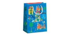 Geschenktragetasche Kind Feuerwehr blau 70010 11625 22,5x17x9cm Produktbild
