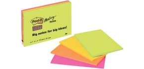 Haftnotizblock 149x98,4mm Neon POST IT 6445-SSP 45Bl 4St Produktbild