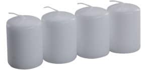 Stumpenkerze 4ST weiß 218168.004 70x50mm Produktbild