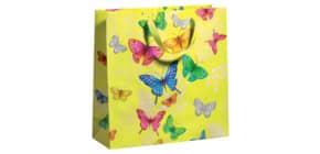 Geschenktragetasche Schmetterling gelb 70010 12614 33x33x12cm Produktbild
