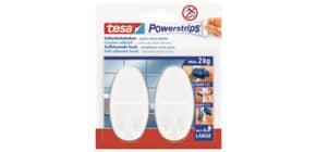 Klebehaken Power Strips weiß TESA 58013-49 oval 2 Stück Produktbild