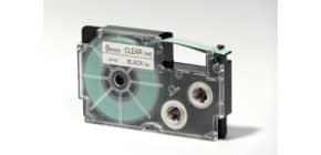 Schriftband 9mm 7,5m schwarz/transparent CASIO XR9X1 für Label Printer Produktbild